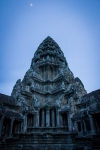 Moon over Angkor Wat temple