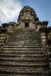 Step staircase to the top of Angkor Wat