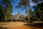 Orange sand in front of Bayon