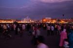 Evening crowds at Djemaa el-Fnaa