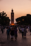 Evening promenade between Koutoubia Mosque and Djemaa el-Fnaa