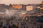 First grills heating up on Djemaa el-Fnaa