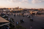 Late afternoon overview of Djemaa el-Fnaa