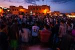 Musicians performing at Djemaa el-Fnaa