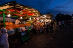 Orange-juice sellers at Djemaa el-Fnaa