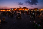 Sunset afterglow setting behind Djemaa el-Fnaa