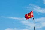 Vietnamese flag flying high