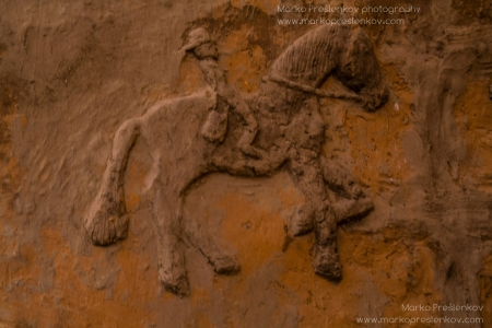 Horse rider on pre-Dogon house wall