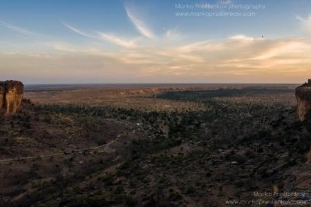 Magnificent view over Banani village plains