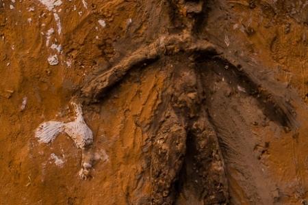 Simbol of man on pre-Dogon house
