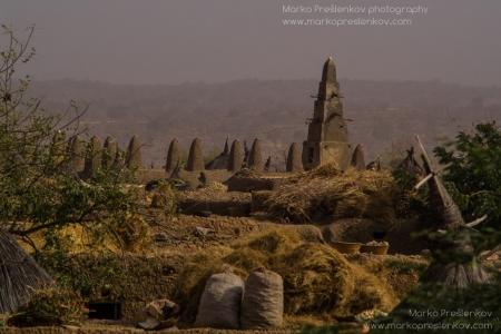 Stacks of hay in Anakanda village