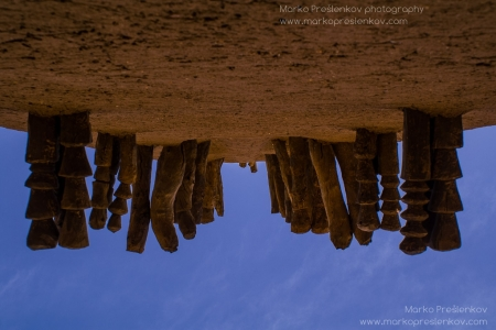 Upside-down Mosque wall in Kani Kombolé