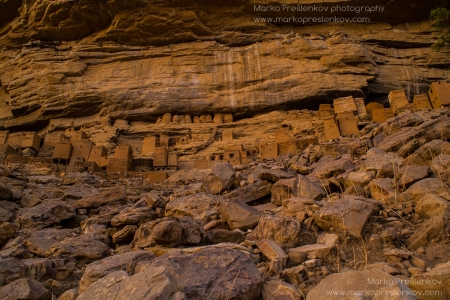 Tiny pre-Dogon houses above Ende village