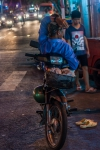 Lazy Vietnamese evening on a motorbike