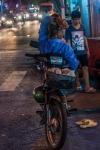 Lazy Vietnamese evening on a motorbike