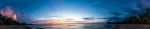 Panoramic sunset at Sugar beach