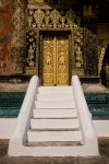 Golden side doors of Wat Xieng Thong