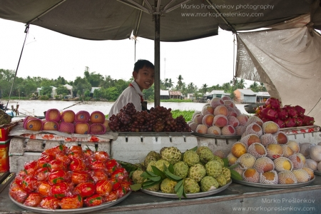 Young fruits seller