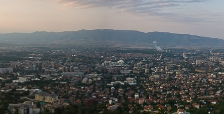 Panorama of Skopje
