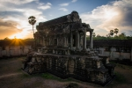 Sun setting down on Angkor Wat