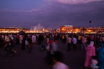 Evening crowds at Djemaa el-Fnaa