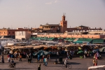 View over Djemaa el-Fnaa towards souks