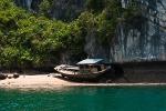 Boat ashore