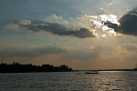 Patch of sun on the Mekong river
