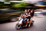 In the cambodian traffic