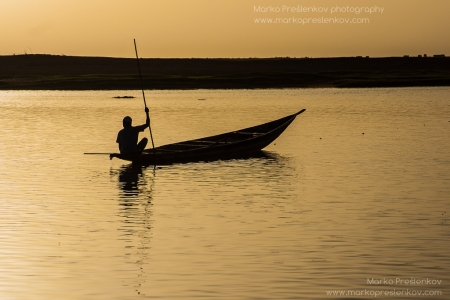 Lone fishing moment