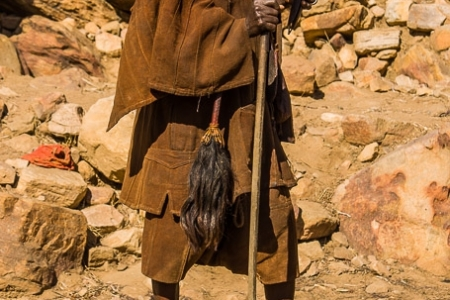 Dogon hunter with a spear